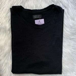 ZARA MEN BLACK T-SHIRT SIZE XL